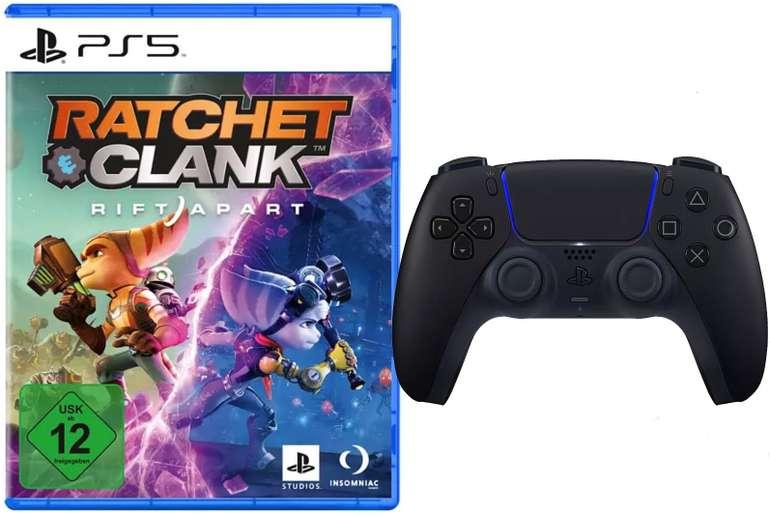 Sony DualSense Controller Midnight Black + Ratchet & Clank: Rift Apart (PS5) für 87,61€ (statt 136€)