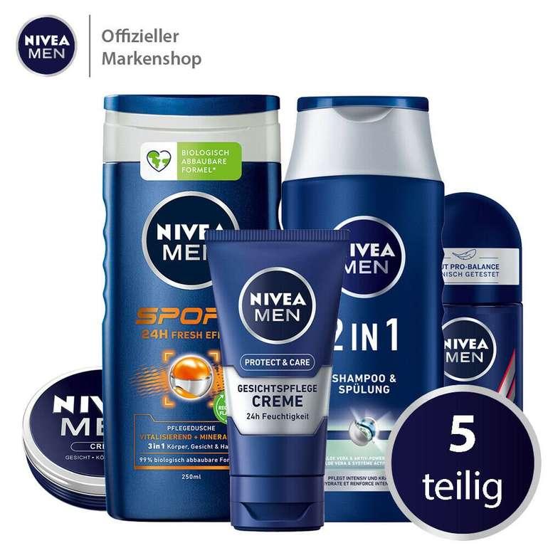 5-teiliges Nivea Men Vorteilspack für 13,99€ inkl. Verssand (statt 17€)