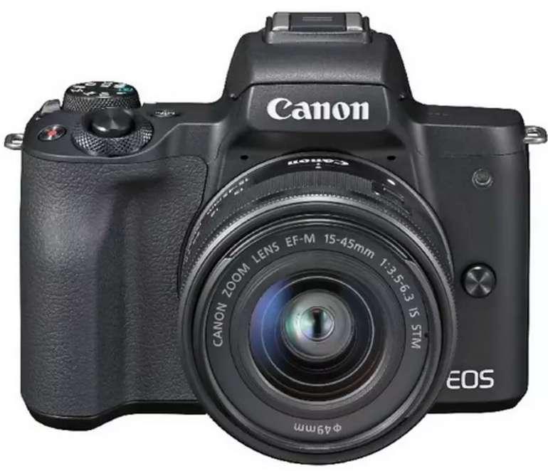 Canon EOS M50 Systemkamera + EF-M 15-45 mm Objektiv für 449,10€ inkl. Versand (statt 545€) - MM Club!
