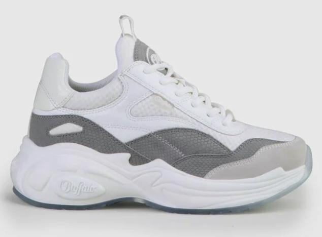 """Buffalo """"B.NCE S3"""" Sneaker vegan in weiß/grau für 48,93€inkl. Versand (statt 57€)"""