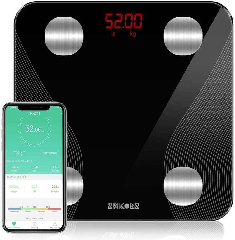 Sakobs Bluetooth Körperfettwaage mit App-Steuerung ab 19,03€ inkl. Prime VSK