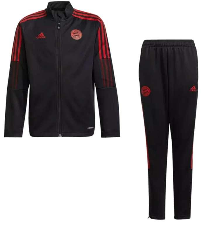 adidas FC Bayern München Kinder Trainingsanzug in schwarz/rot für 59,95€ inkl. Versand (statt 70€)