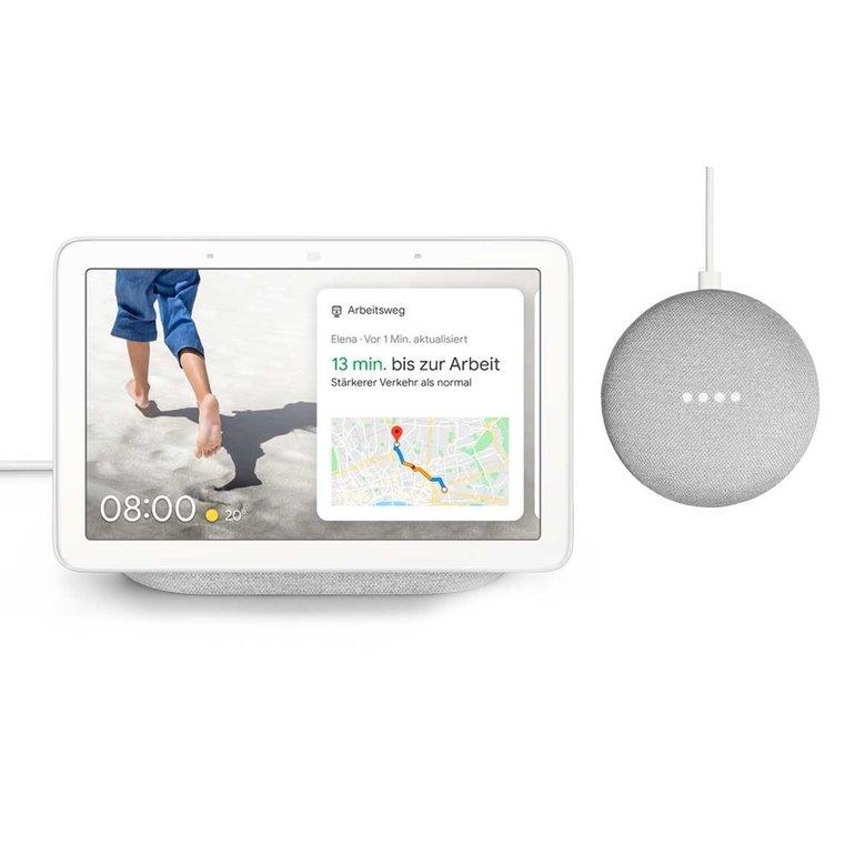 Google Nest Hub + gratis Google Home Mini für 117,95€ inkl. VSK
