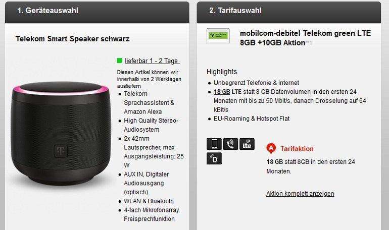 Mobilcom-Debitel Telekom green Allnet-Flat mit 18GB LTE