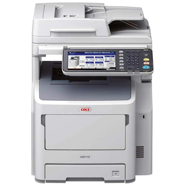 OKI MB770dfnfax Laser-Multifunktionsdrucker für 596,52€ inkl. Versand (statt 2460€)