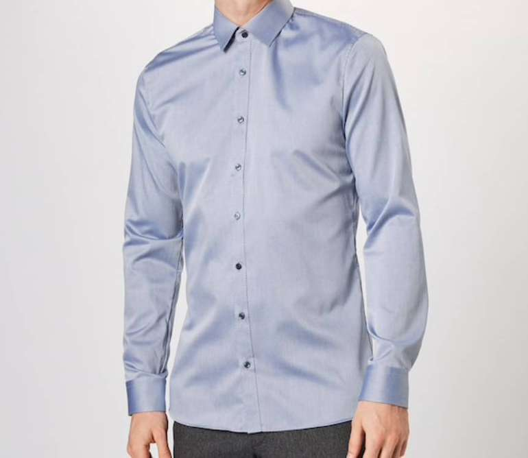 Olymp Herren Hemd in Rauchblau für 17,95€ inkl. Versand (statt 40€)