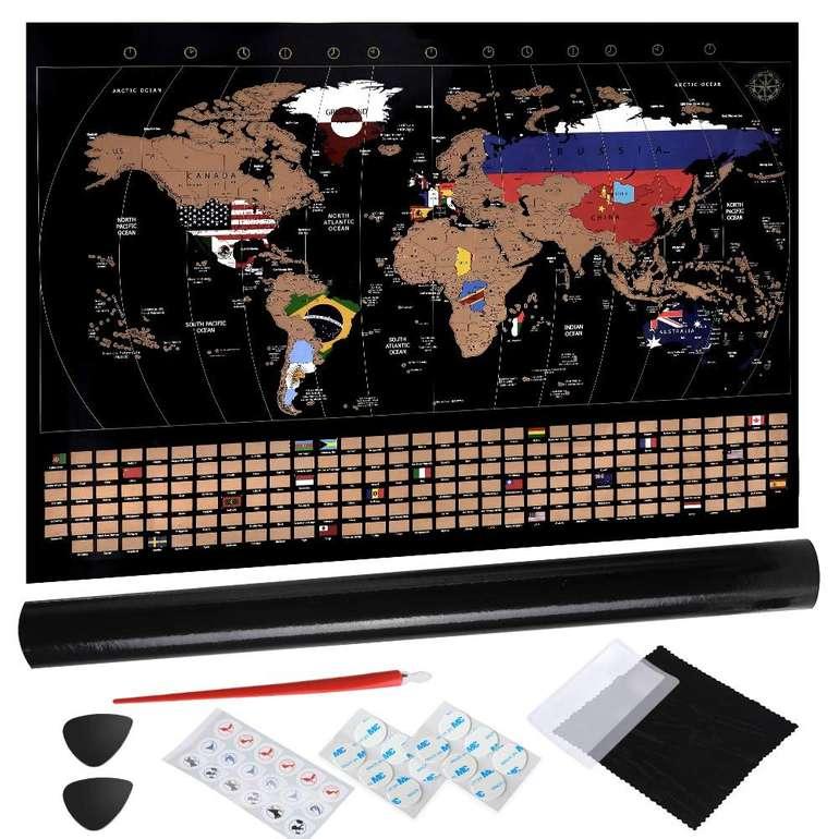 Anpro Rubbel-Weltkarte 80 x 58cm inkl. Geschenkverpackung für 12,34€ inkl. VSK - Prime!