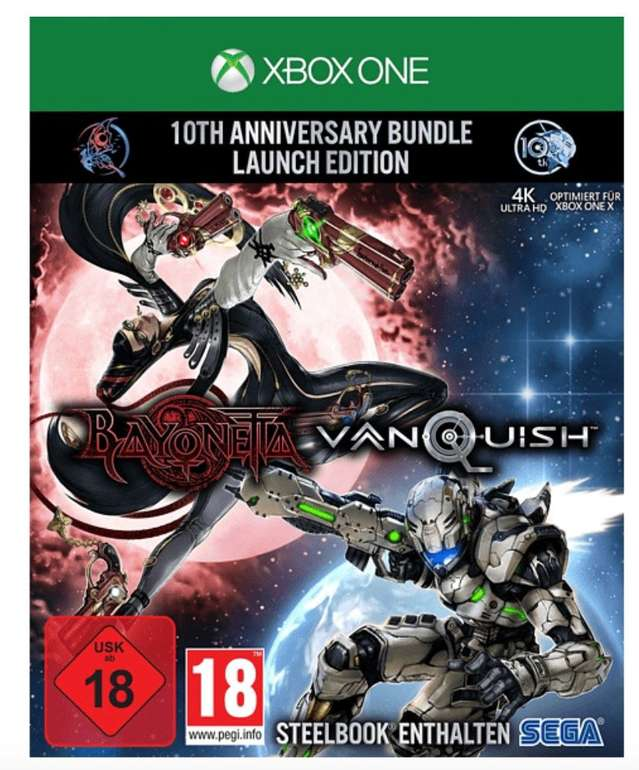 Bayonetta & Vanquish: 10th Anniversary Bundle - Launch Edition inkl. Steelbook (Xbox One & PS4) für 24,99€
