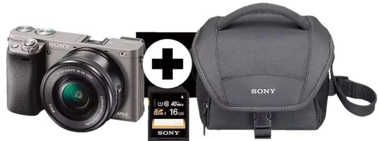 Sony Alpha 6000 Systemkamera + Objektiv SEL-P1650 (16-50mm) + Tasche + Speicherkarte für 444,51€ (statt 549€)