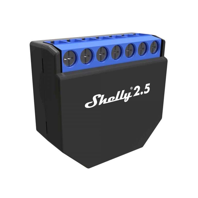 4er-Set Shelly 2.5 Schaltaktor für 71,99€ inkl. Versand (statt 78€)