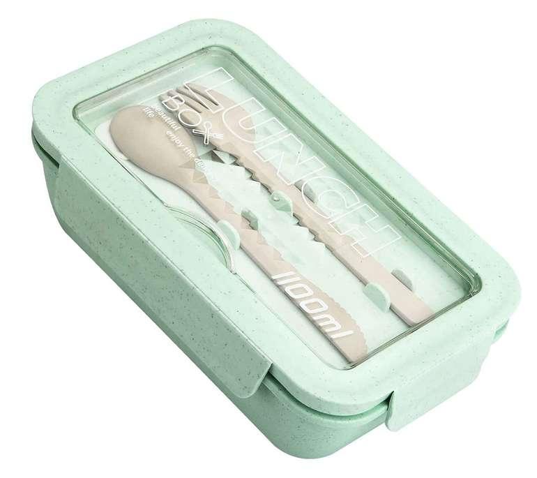 Mugut Bento Box mit Fächern und Besteck für 5,70€ inkl. Prime Versand (statt 18,99€)