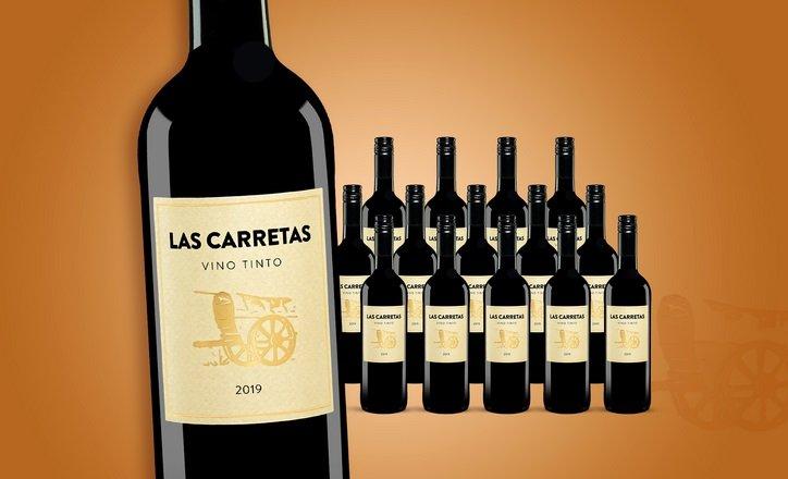 15 Flaschen Las Carretas 2019 Rotwein 2