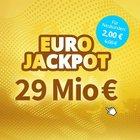 29 Mio € im Pott: 3 Felder Eurojackpot nur 2€ (statt 6€) für Neukunden