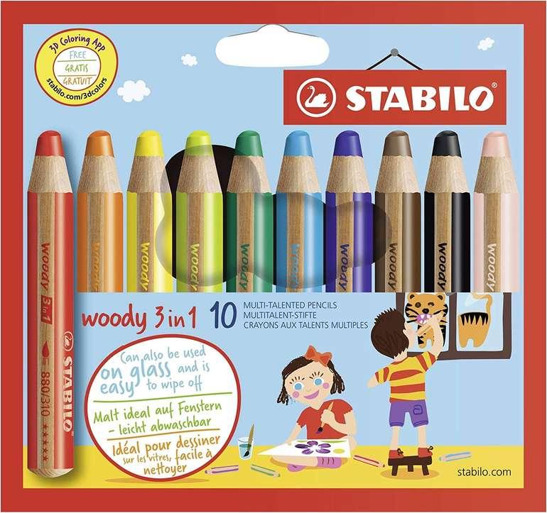 Stabilo Woody 3 in 1 - 10er Pack (mit 10 verschiedenen Farben) für 7,70€ inkl. Prime Versand (statt 11€)