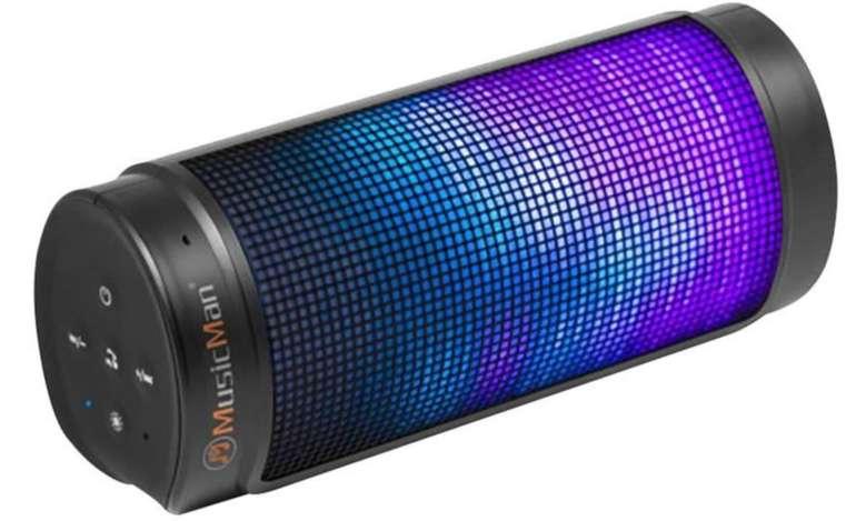 Technaxx MusicMan BT-X26 Bluetooth-Lautsprecher (2x 4W, AUX-In, microSD, 3.5-8h Akku, 6 LED-Lichteffekte) für 15,99€