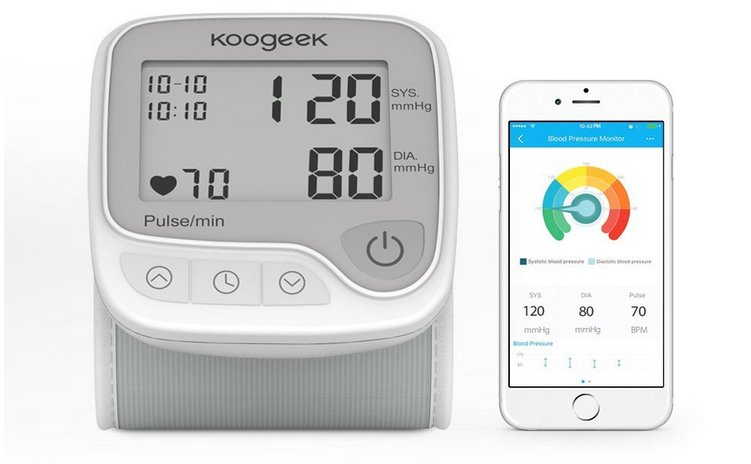 Koogeek Smart & Bluetooth Handgelenk Blutdruckmessgerät für 20,50€ (statt 28€)