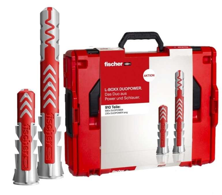 Amazon Prime Day: 910-tlg. Fischer L-Boxx 102 Duopower Universaldübel Set für 104,09€ (statt 128€)