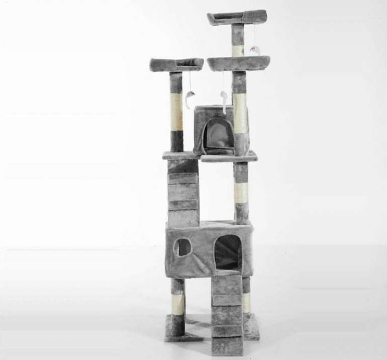 Pawhut Kratzbaum Sisal Treppe 170cm in Grau für 34,99€ inkl. Versand (statt 54€)