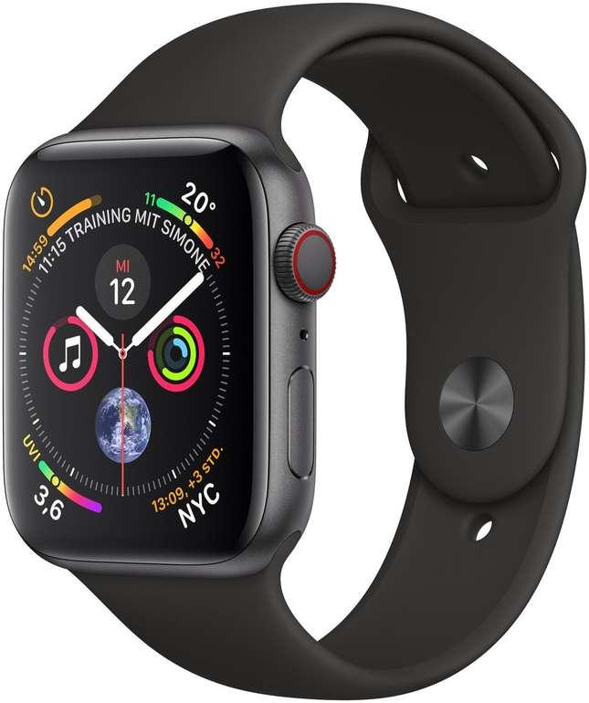 44mm Apple Watch 4 GPS + Cellular Space Grau Alugehäuse & Sportband für 385,20€ inkl. Versand (eBay Plus)