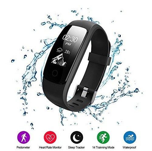 Voberry Fitness Tracker mit Schrittzähler, Pulsmesser & mehr für 12,99€