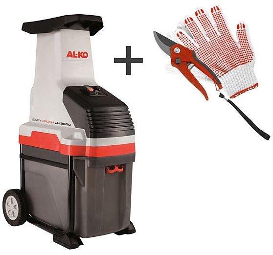 AL-KO LH 2800 Easy Crush Leisehäcksler + Handschuhe + Astschere für 89,91€