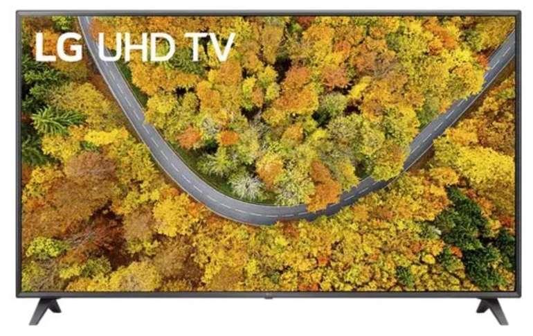 LG 75UP75009LC – 75 Zoll UHD Smart TV mit webOS 6.0 und LG ThinQ für 999€ (statt 1.199€)