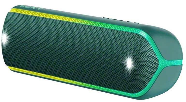 Sony SRS-XB32 Bluetooth Lautsprecher (Wasserfest, NFC, farbige Lichtleiste) für 89,99€