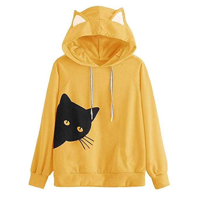 Verschiedene Leedy Pullover mit Katzen-Print für 8,80€ inkl. VSK