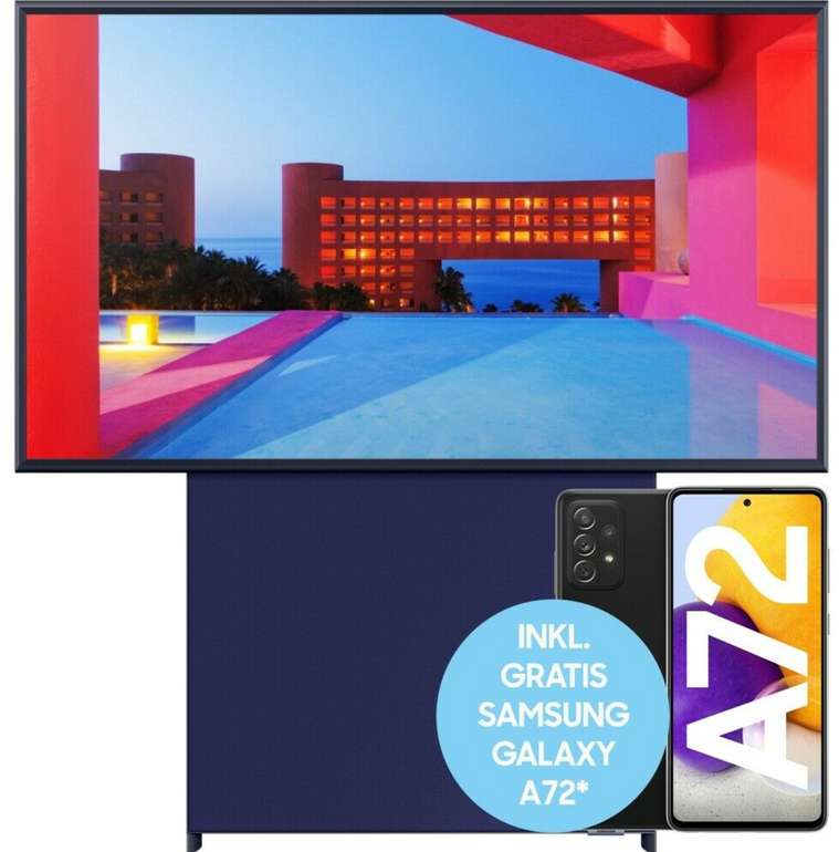 Samsung GQ43LS05TAUXZG The Sero UHD Fernseher + Galaxy A72 für 679,90€ inkl. Versand (statt 1099€)