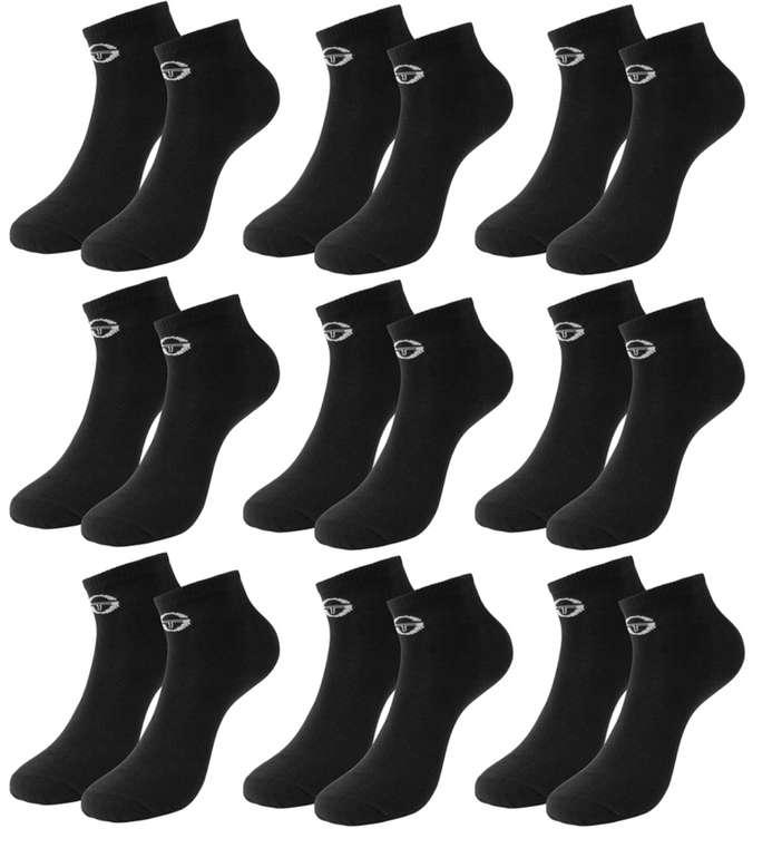 Sergio Tacchini Herren Sneakersocken (9 Paar) für 9,99€ zzgl. Versand (statt 20€)