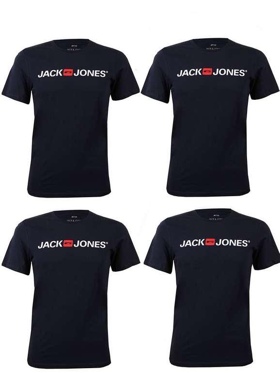 4er Pack Jack & Jones Herren T-Shirts (O-Neck & V-Neck) für 29,95€ inkl. Versand