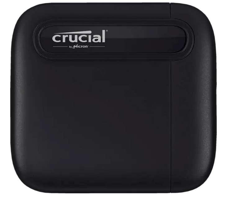 Crucial X6 USB 3.1 Gen 2 Typ-C (10 GB/s) Festplatte (2 TB SSD, extern, Schwarz) für 149€ inkl. Versand (statt 174€)