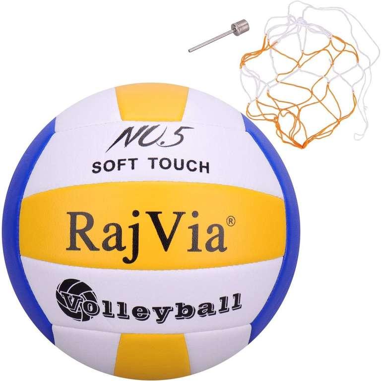 Rajvia Soft Touch Beachvolleyball (Größe 5, inkl. Ventilnadel & Ballnetz) für 13,10€ inkl. Prime Versand (statt 22€)
