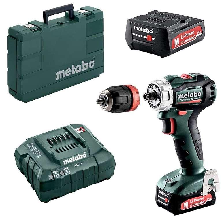 "Metabo Akku-Bohrschrauber PowerMaxx ""BS 12 BL Q"" 12V 2x 2,0Ah für 139,90€ (statt 161€)"