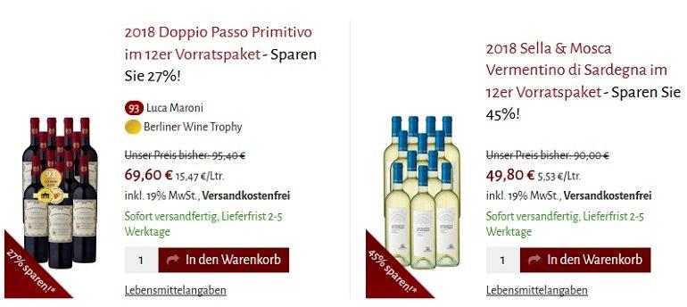 Club-of-Wine Glückstage mit bis zu 51% Rabatt