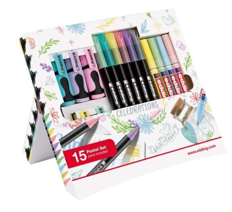 15-tlg. edding Celebration Promotion Pastell Set für 4,99€ inkl. Versand (statt 12€) - Newsletter Gutschein!