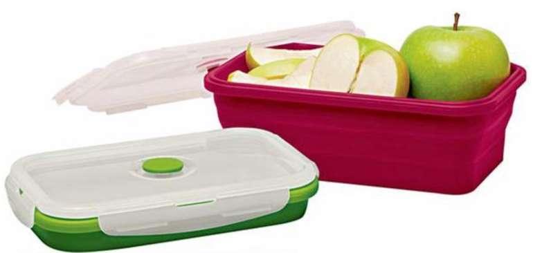 10er Set Ideenwelt Silikon Frischhaltedosen (BPA-frei, 5x rot 1200 ml + 5x grün, 800 ml) für 17,95€ (statt 30€)