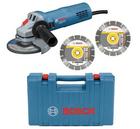 Bosch GWS 880 Winkelschleifer im Koffer + 2 Diamant-Trennscheiben für 62,95€