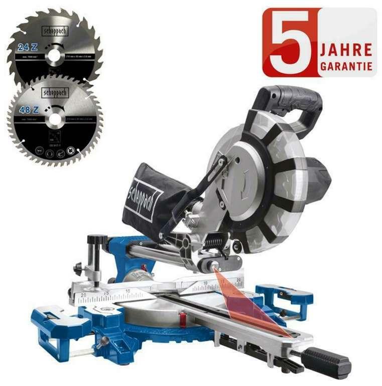 Scheppach Kapp und Gehrungssäge HM216SPX mit 2000 Watt + 2.Sägeblatt für 119,95€ inkl. Versand (statt 149€)