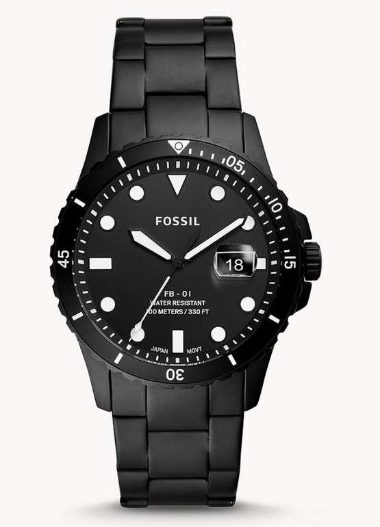 Fossil Herrenuhr FB-01 (3-Zeiger, Datum) in Schwarz für 64€inkl. Versand (statt 99€)