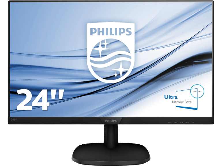 "Philips 243V7QDAB - 23.8"" Full-HD Monitor (5 ms, IPS, 60 Hz) für 93,99€ inkl. VSK"