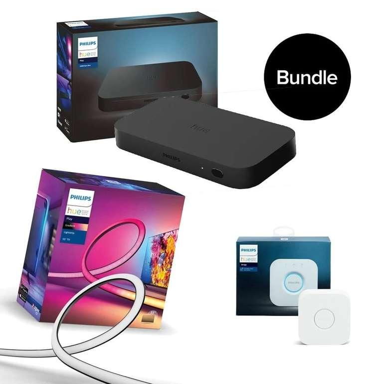 "Bundle: Philips Hue - HDMI Sync Box & Gradient Lightstrip 55"" & Bridge für 375€ inkl. Versand (statt 439€)"