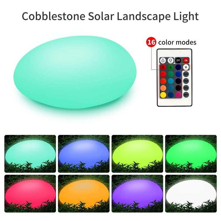 TEQStone RGB Solarlampe mit Fernbedienung & IP67-Zertifizierung für 26,99€ inkl. VSK