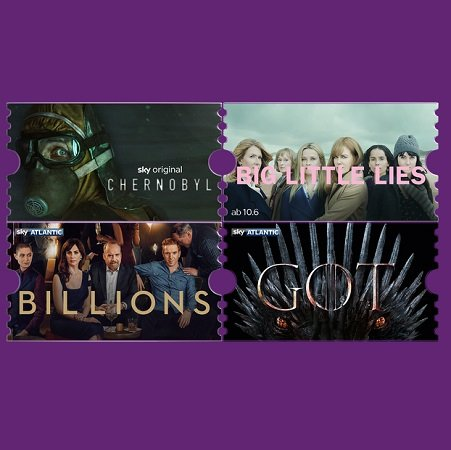 Chernobyl, Big Little Lies, Billions: 1 Monat Sky Entertainment Ticket für 4,99€