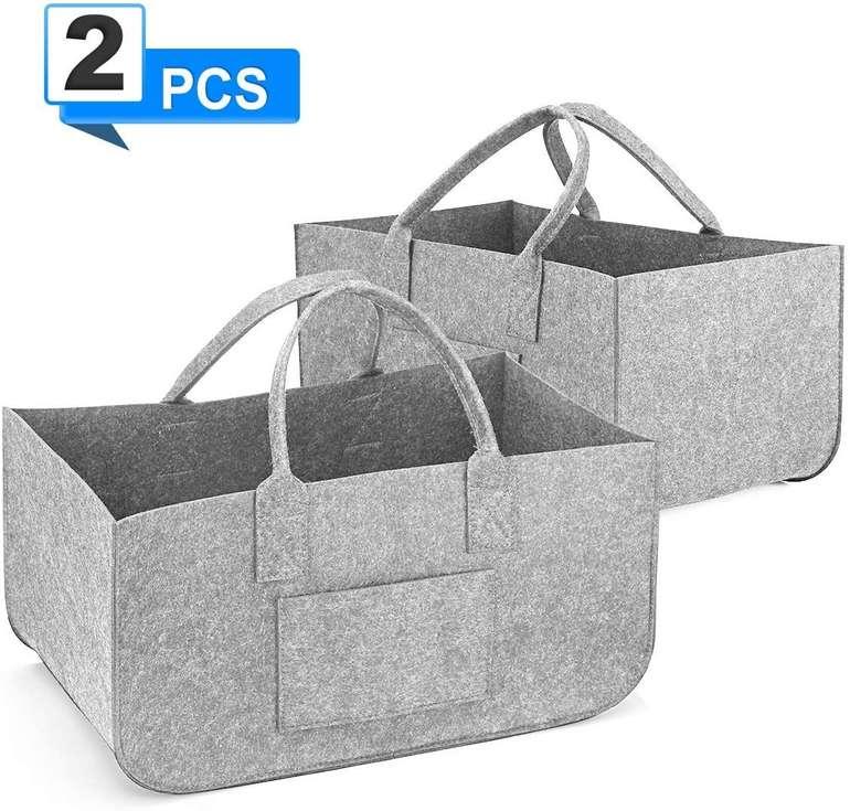 Sawake faltbare Filztasche im Doppelpack (50 x 25 x 25 cm) für 13,99€ inkl. Prime Versand (statt 20€)