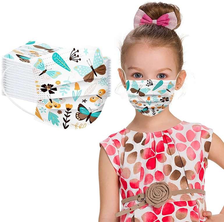 Bicophy 50er Pack Einweg Kinder Mund-Nasen-Masken für je 8€ inkl. Versand (statt 11€)