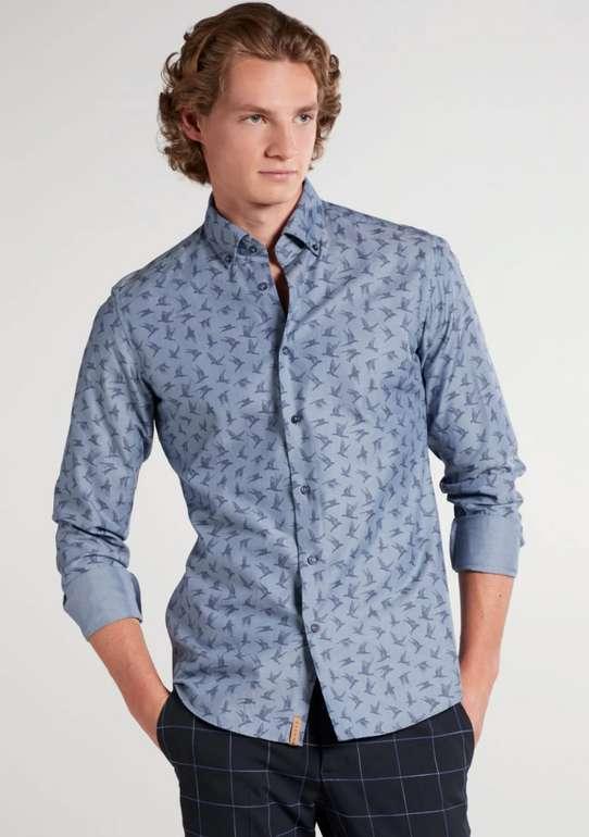 Eterna Sale mit 19% Extra-Rabatt ab Bestellwert von 49€ - z.B. Eterna Langarm Hemd Slim Fit Upcycling Shirt für 28,31€
