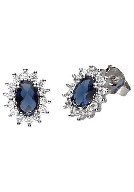 Firetti Ohrstecker mit Kristallsteinen in nachtblau für 16,99€ inkl. VSK (statt 26€)