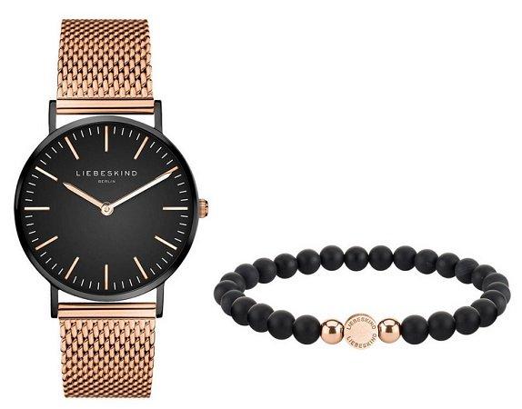 """Liebeskind Set: Damenuhr und Armband """"LS-0010-MQB"""" für 84,99€ (statt 160€)"""