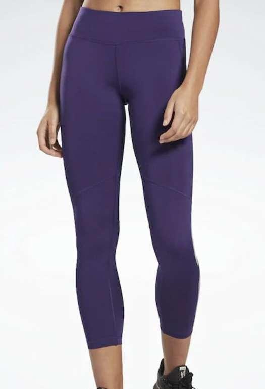 Reebok Sport Tights in lila (schweißableitend, elastisch, trocken aus Recyclingmaterial) für 29,31€ inkl. Versand (statt 35€)